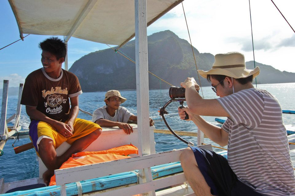 Dax Victorino Filming Locals in Palawan